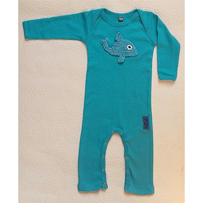 combinaison pyjama b b bleu baleine 18 mois nature d couvertes. Black Bedroom Furniture Sets. Home Design Ideas