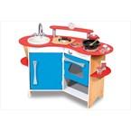 Cuisine en bois enfant avec évier