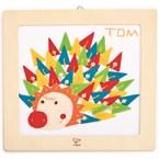 Happy hedgehog embroidery kit by hape ki