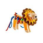 Lacing lion by hape lion à lacer en bois