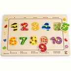 Numbers by hape matching puzzle en bois