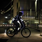 Poncho imperméable vélo réfléchissant