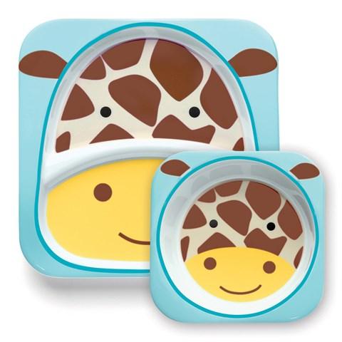 Kit assiette + bol - girafe