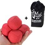 Lot de 5 balles de jongle uglies rouges