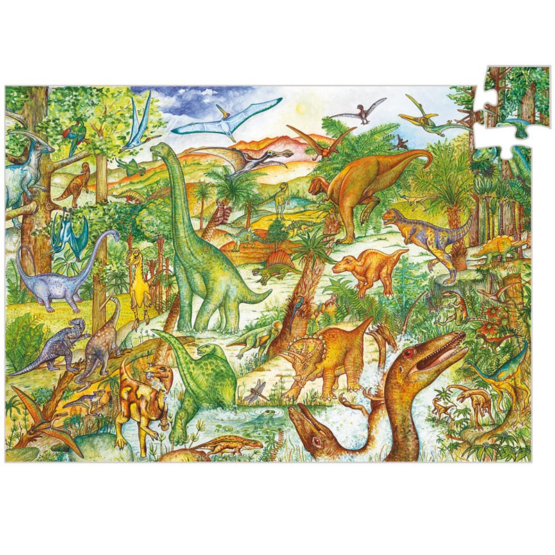 Puzzle observation 100pcs +5y dinosaures