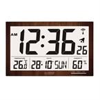 Horloge murale écran géant WS8007-WOOD