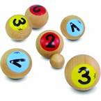 6 boules de pétanque 1,2,3