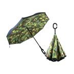 Parapluie inversé plume de paon