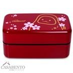 Boîte à bento daruma rouge