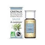 Cristaux d'huiles essentielles sauge bio