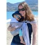 Porte-bébé sling sukkiri gris étoiles