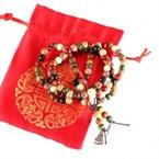 Bracelet-collier mala multicolore