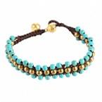 Bracelet tibetain - teinte turquoise