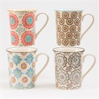 Table passion - coffret 4 mugs boheme