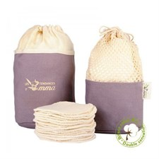Kit eco belle trousse coton bio biface