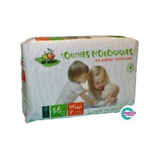 Couches bio babby jetables 3/6 kg