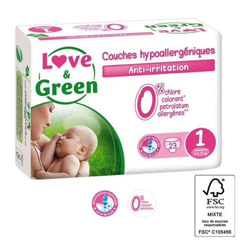 Love & green - 23 couches (t1) - 2/5kg