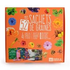 52 sachets de graines en coffret