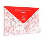 16 cartes postales à colorier - londres