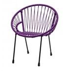 Chaise tica scoubidou violette