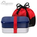 Boîte à bento concorde xl bleue + sac