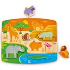 Puzzle animaux sauvages hape