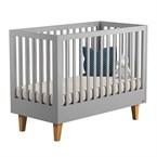 Lit bébé évolutif 140 lounge gris