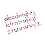 Alphabet mobile script en bois