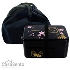 Grand daruma noir bento box + sac bushid