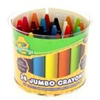 Crayons à la cire maxi 24 couleurs