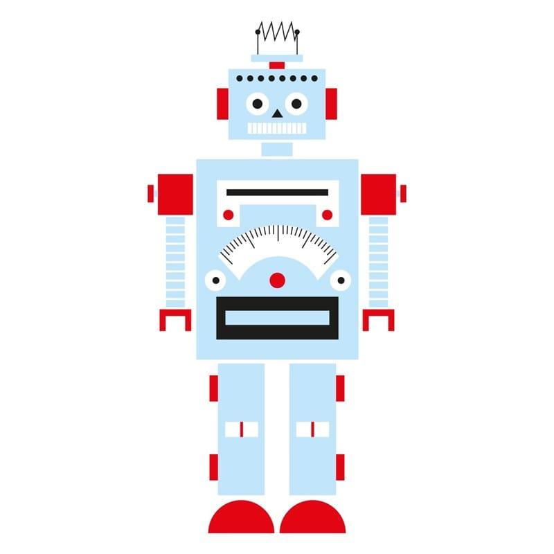 Stickers muraux enfant nono le robot