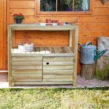 Table de préparation en bois