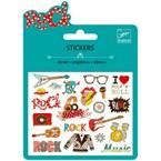 Mini stickers métal +6y pop et rock djec