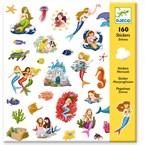 160 stickers 4-8y sirènes djeco