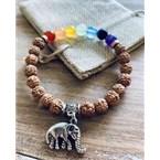 Bracelet 7 chakra et rudraksha