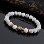 Bracelet buddha en howlite