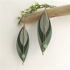 Boucles d'oreilles  pop vert de gris