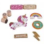 Kit décoration de cadeau - licorne