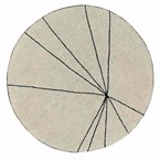 Tapis rond trace beige 160 ø