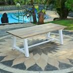 Table de jardin en teck 100 cm - arturia