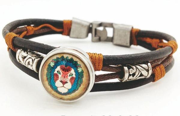 bracelet cuir zodiaque