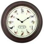 Horloge murale chants des oiseaux