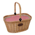 Panier isotherme chantilly vichy rouge
