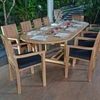 Salon de jardin en teck qualité ecograde