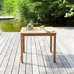 Table de jardin carrée en bois d'acacia
