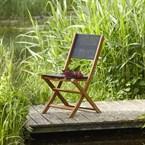 Chaise pliante acacia et textilène