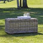 Table basse rectangulaire en kubu nature