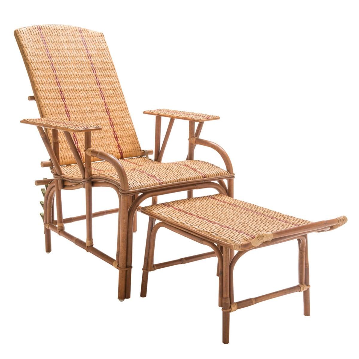 Maison Du Monde Fauteuil Rotin chaise longue en rotin bagatelle | nature & découvertes