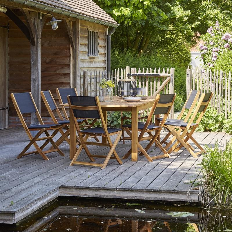 Salon de jardin acacia 8 à 10 places | Nature & Découvertes