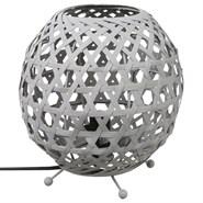 Lampe ovale bambou - h. 21,5 cm. -